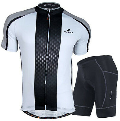 9c3f535a7 Mens Cycling Jersey Bicycle Wear Bike Uniforms Clothing Padded Shorts