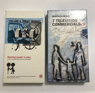 Radiohead Meeting People Is Easy & 7 Television Commercials VHS Bundle!!!