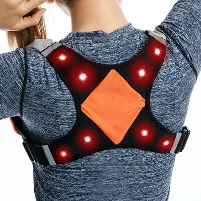 Night Safety LED Reflective Gear High Visible Rechargeable For Running Cycling