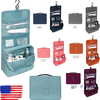 Travel Cosmetic Makeup Toiletry Case Wash Organizer Storage Pouch Hanging Bag US