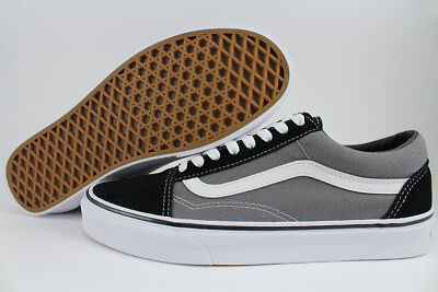 Vans Old Skool Black pewter Gray white Charcoal Classic Skate Us Men Women  Sizes 1f1abca8a