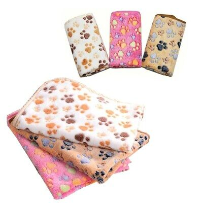 Pet Warm Mat Cat Dog Puppy Soft Bed Cushion Blanket Small Large Paw Print