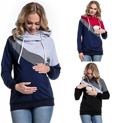 Women Nursing Breastfeeding Top Maternity Cotton Shirt Pregnancy Casual Clothes