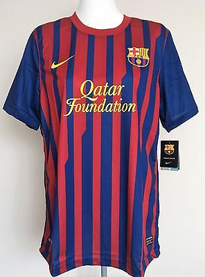 Barcelona 2011/12 Authentic S/s Home Shirt By Nike Size Men's Xl Brand New