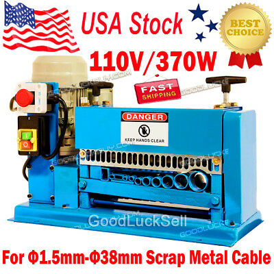 370W Powered Electric Wire Stripping Machine Copper Aluminum Scrap Recycle Tool