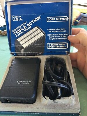 Vintage Boxed Remington Triple Action PM 750 Cord Electric Shaver