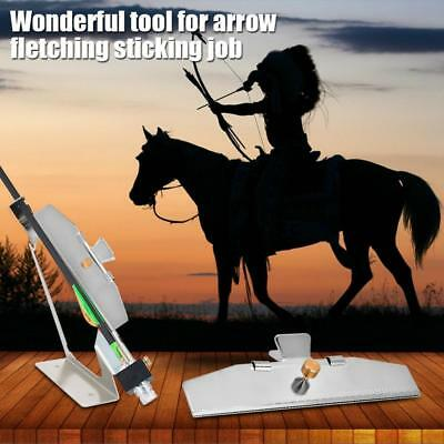 Archery Arrow Fletching Jig Feather Stick Make Clamp Tool DIY Bonding Hunting WY