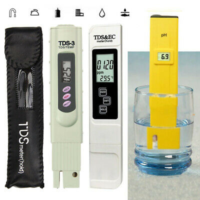 Digital TDS Meter Tester Filter Hydroponics Pen Water Purity Hardness PH Paper