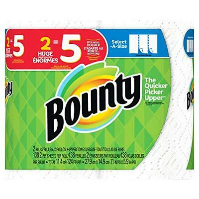 Bounty Select-a-Size Paper Towels, White, (HUGE Roll), (Select Qt) ****NEW****