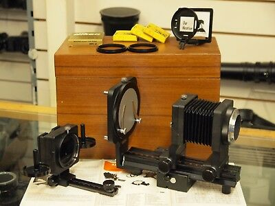 Delta Automatic Macro Bellows System with Wooden Box. Stock no u8945