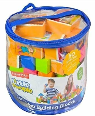Brand New Fisher Price Little People Soft Foam Building Blocks 50 Pieces