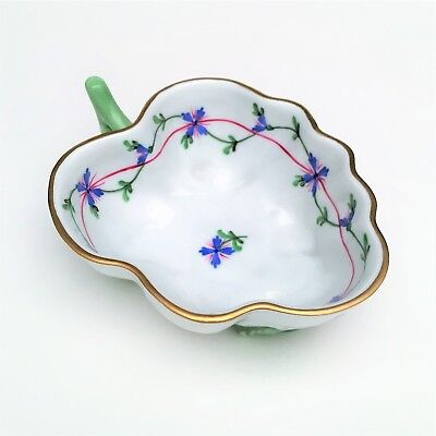 Herend Porcelain Blue Garland #680/PBG Nappy / Small Dish