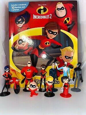 Disney Pixar Incredibles 2 Busy Book - 12 Figures And A Playmat