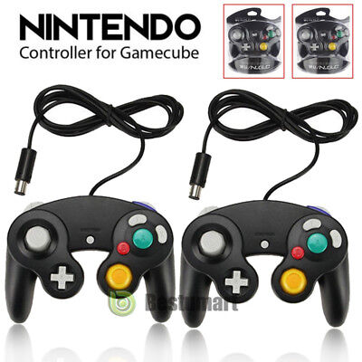 2x Wired Controller Dual Analog Shock Game Pad For Nintendo GameCube NGC GC Wii