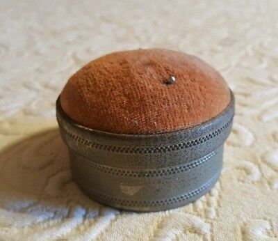 vintage pin cushion with mirror and storage container