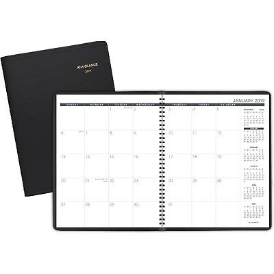 "AT-A-GLANCE Monthly Planner, Jan 2019 - Mar 2020, 8-7/8"" x 11"" Black 7026005"