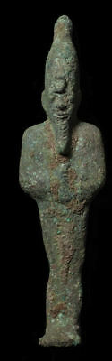Ancient Egyptian Bronze Osiris Figure Late period, ca. 700-30 B.C.