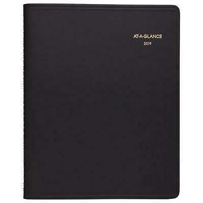 "2019 At A Glance Weekly Planner. Jan'19- Jan'20. 6 3/4"" x 8 3/4"" 7095105. Black."