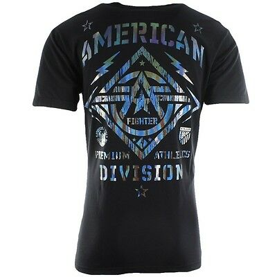AMERICAN FIGHTER Men T-Shirt NEW MEXICO Athletic HOLOGRAM FOIL Biker Gym UFC $40