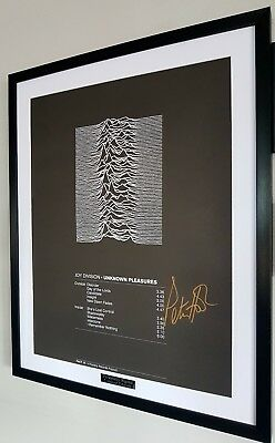 Joy Division Framed Limited Edt Unknown Pleasures Ian Curtis Signed Peter Hook