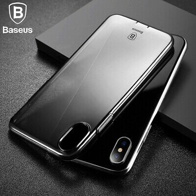 Baseus Slim Silicone Crystal Clear Bumper Gel Case Cover For Apple iPhone X 7 8