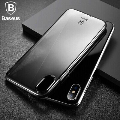 For Apple iPhone X 7 8 Plus Baseus Slim Crystal Clear Silicone Gel Case Cover