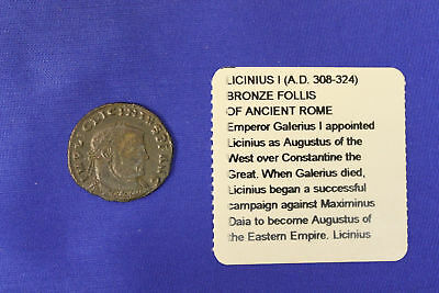 Licinius I (AD 308-324) Bronze Follis of Ancient Rome Roman Coin - Littleton