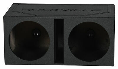 "Rockville RDV12B Dual 12"" Bedlined Vented Subwoofer Sub Enclosure Box 1.55 CU FT"