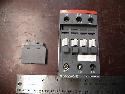 ABB Contactor Starter Relay, P/N AF30-30-00-13