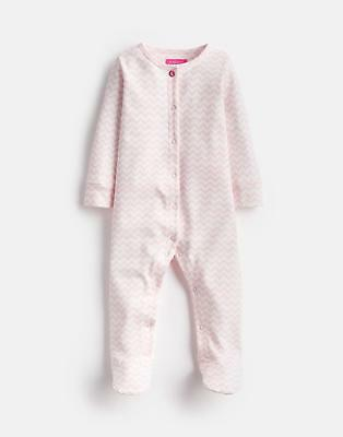 Joules 125068 Babygrow in ROSE PINK ZIG ZAG