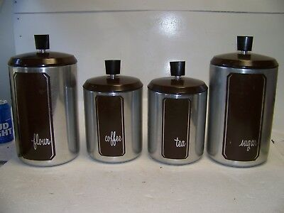 Vintage West Bend Aluminium Canister Set Of 4,