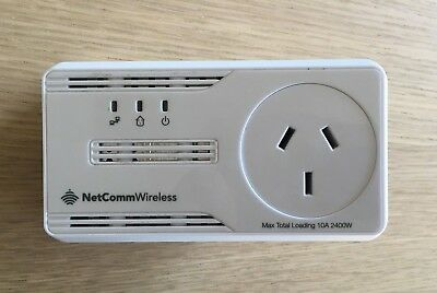 Netcomm Wireless NP205 - with AC Pass-through incl 5m flat CAT 6 ethernet cable
