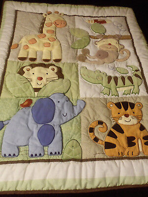 Just Born Animal Crib Toddler Quilt Wall Hanging