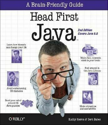 NEW Java : Head First  By Kathy Sierra Paperback Free Shipping
