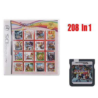 208 In 1 Game Cartridge/ Multi Game Cartridge For Super Nintendo Ds And 3DS AU