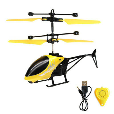 Mini Helicopter RC Drone Flash Light Induction Aircraft Toys UK