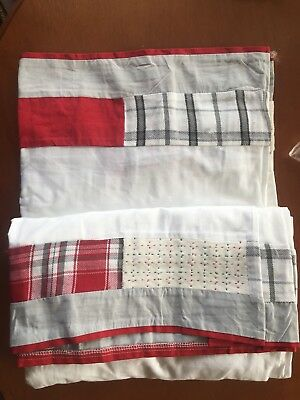 Pottery Barn Kids Baby Crib Skirt Toddler Bed Christmas Dear Santa Quilted HTF