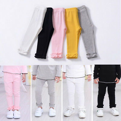 USA Kids Baby Girl Leggings Trousers Toddler Casual School Long Pants Clothes