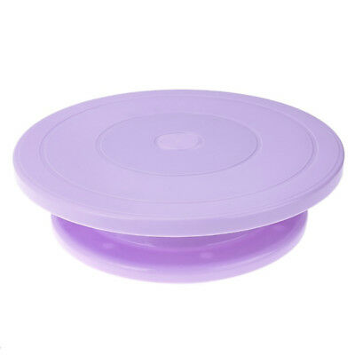 Plastic Cake Plate Turntable Rotating Anti-skid Round Stand Decorating RotarR3H4