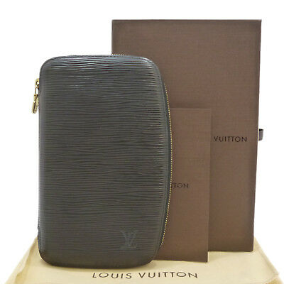 Authentic LOUIS VUITTON Epi Agenda Geode Black Leather M63872 #S206018
