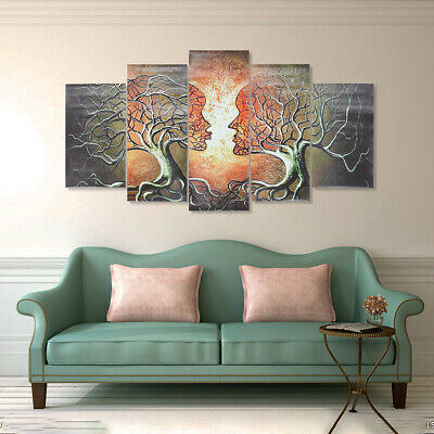 5 Panels Modern Abstract Lady Tree Print Picture Canvas Wall Art Prints Unframed