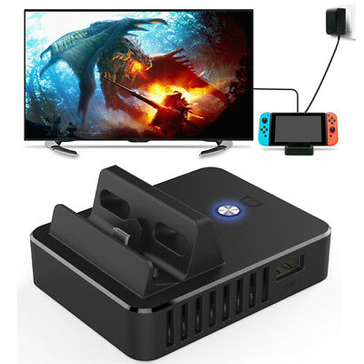 3In1 Fast Charging Dock Stand & HDMI Cable & Power Cord for Nintendo Switch Part