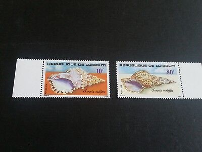 Djibouti Republic 1978 Sg 741-742 Sea Shells Mnh (E)