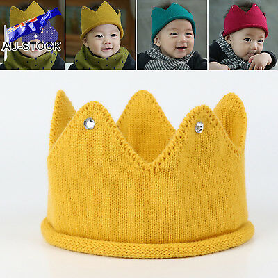 Baby Infant King Princess Headband Party Knitted Hat Headwear Birthday Cap Cloth