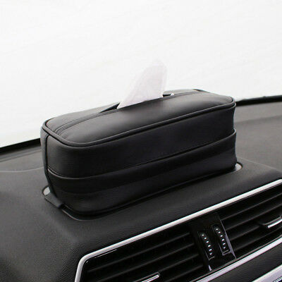 Fashion Home Office Car Decor Tissue Holder Leather Portable Tissue Box Cover
