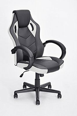 Executive Racing Office Chair PU Leather Swivel Computer Desk Seat High-Back in