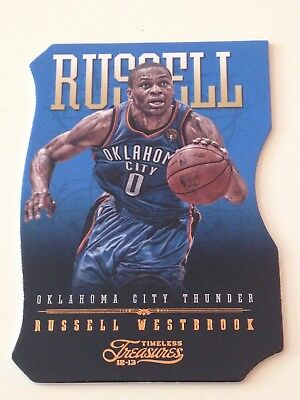 2012/13 Panini Timeless Treasures RUSSELL WESTBROOK three-piece puzzle #D/199!