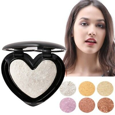 Sweet Heart Shaped Highlighter Face Powder Shimmer Palette Bronzer Makeup Tools