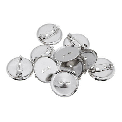 23MM Metal Brooch Base Pins Pin-Back Button Parts Brooch Clasps 10 Pieces