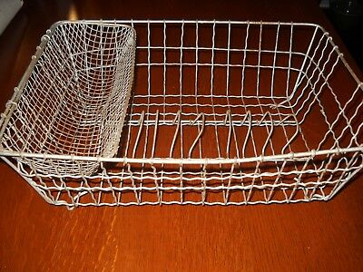 Antique Twisted Wire Kitchen Sink Dish Drying Rack Farmhouse Primitive